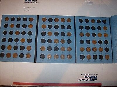 1909 VDB -1940 Lincoln Wheat Cent Penny Collection 40 coins New Whitman Folder