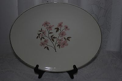 Knowles Pink Dogwood by Kalla Oval  Serving Platter