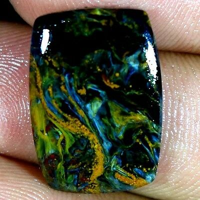 12.75Cts. 100% NATURAL SPARKLING PIETERSITE CUSHION CABOCHON UNTREATED GEMSTONES