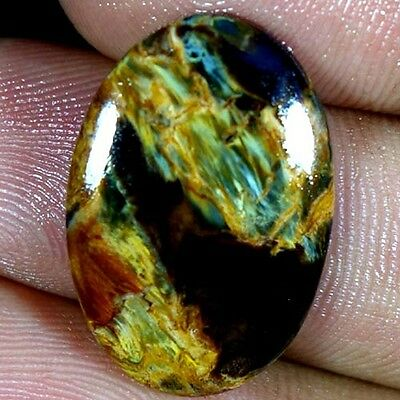 12.60Cts. 100% NATURAL FABULOUS POWER PIETERSITE OVAL CABOCHON QUALITY GEMSTONES