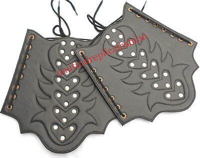 Leather Armor Guard With Beautiful Strip Emboss With Brass Accents Armor Guard