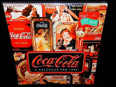 COKE COCA-COLA 1995 CALENDAR NOSTALGIA ADS FROM 1900s Never Used MINT CONDITION