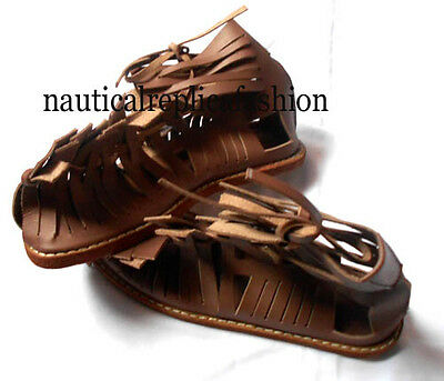 Greek Leather Roman Sandal Wearable Collectible Medieval Gladiator Sandal