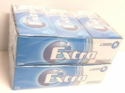 Wrigley's EXTRA PEPPERMINT FLAVOUR SUGARFREE CHEWING GUM BulkBox  24x14pcs