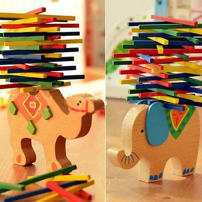 Baby Educational Balancing Elephant Camel Game Blocks Kids Wooden Toys Gift JJ