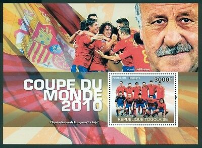 Togo MNH World Cup 2010 South Africa Soccer Football Y&T BL 407 $$
