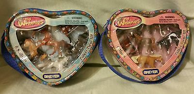 New Breyer 2 Packages Mini Whinnies Stallions Mares Horse Collections