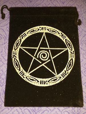 Pentacle Velvet Bag Witch Wicca Pagan