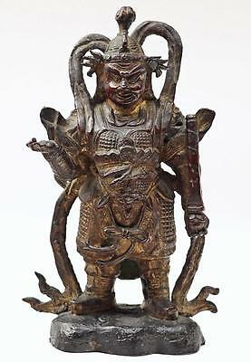 Genuine MING Dynasty Bronze Kings Guardian Vaisravana ExChristies Auction Statue
