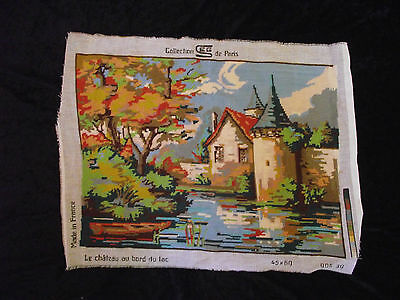 Vintage Collection de Paris Tapestry - Chateau & Lake (Completed)
