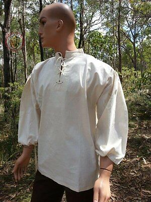 White Peasant shirt size Small Costume Dress-Up Re-enactment