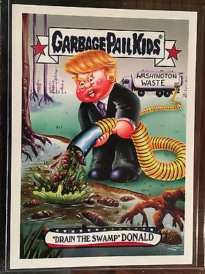 2016 GPK Disg-Race to the White House Card #78 Drain The Swamp Donald - Limited