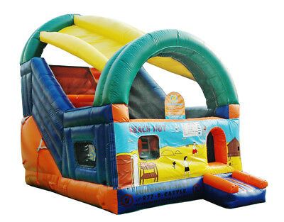 MASSIVE JUMPING CASTLE SALE 4mx5.5m x5m tall Jungle Water Slide**Commercial**NEW