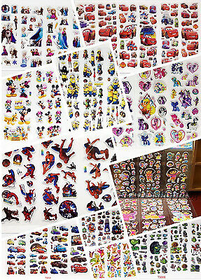 Hot Sticker Lot/3d Children Cartoon Early Learning Bubble Stickers/Funny Sticker