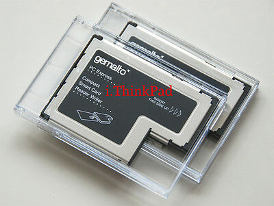 New Lenovo Gemalto 54mm ExpressCard Smart Card Writer Reader PN 41N3043 41N3045