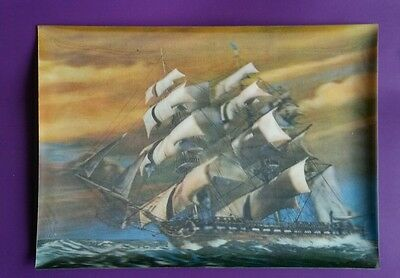 3D Sailing Ship Postcard