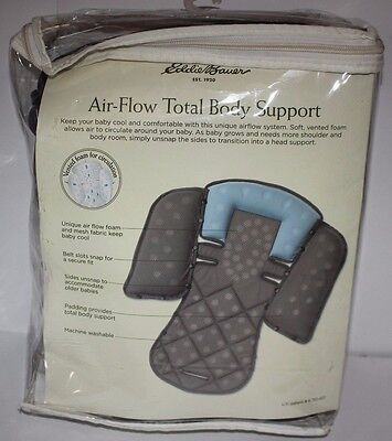 NEW Eddie Bauer Airflow Total Body Support Blue baby infant