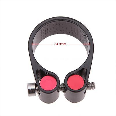 Durable 34.9MM Carbon Fiber Seat Post Clamp FOR MTB Bicycle Black E4J7