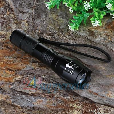6000Lm Bright CREE XM-L T6 LED Rechargeable Focus Flashlight Torch Zoomable Lamp