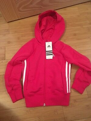 Adidas Zip Up Track Top Hoody Size 5-6 Years BNWT Pink