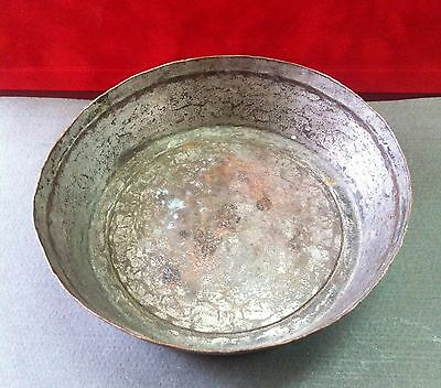 Antique Old 19c. Ottoman Islamic Copper Dish
