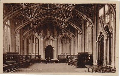Old postcard Divinity Oxford