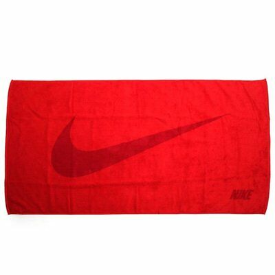 NIKE Swoosh Jacquard Workout Cotton Towel 60x120cm , Red