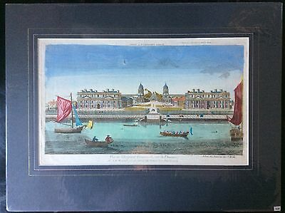Brilliant 1770 view of the Royal Hospital in Greenwich London