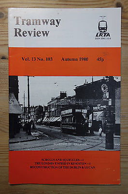 """""""The Tramway Review"""" Vol 13 No 103 Autumn 1980 (Overhead, Kingston, Dublin)"""