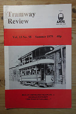 """""""The Tramway Review"""" Vol 13 No 98 Summer 1979 (Belfast, Rochdale, Tickets)"""