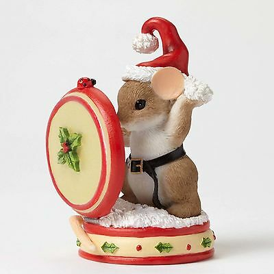 Charming Tails*SANTA MOUSE WITH MIRROR*New*CHRISTMAS*Holly Jolly Style*4046942