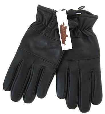 Childrens Boys Girls Black Genuine Leather Gloves Winter Lined Good Quality