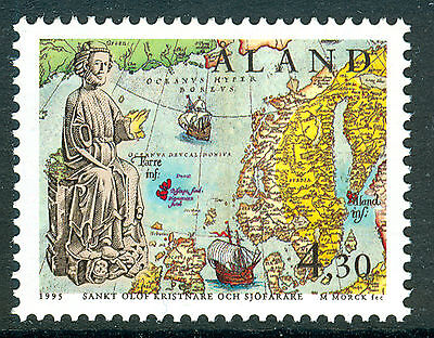 ALAND 1995 stamp Saint Olaf um (NH) mint Maps Ships