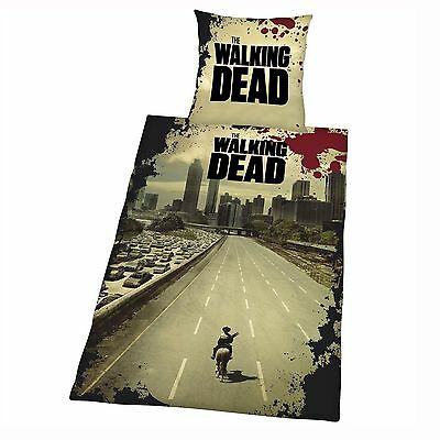 The Walking Dead Duvet Cover Set New Official Zombie Apocalypse Bedding