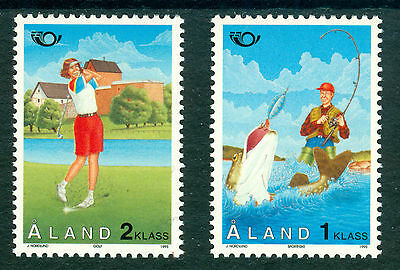 ALAND 1995 stamps Norden Tourism um (NH) mint Fish Fishing Golf