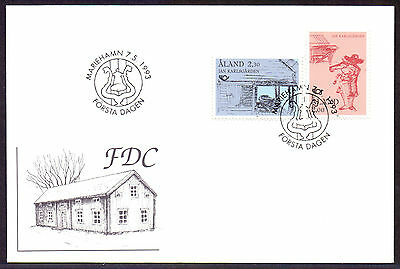 ALAND 1993 stamps Norden Tourism used on FDC