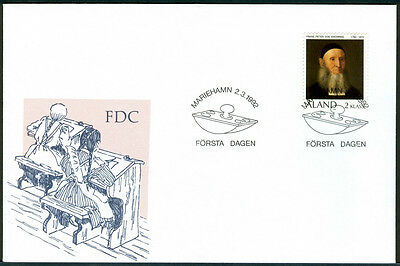 ALAND 1992 stamp Frans Peter von Knorring Birth Bicentenary on FDC
