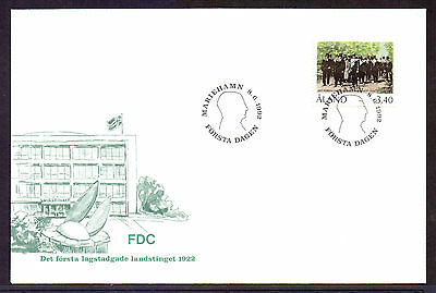 ALAND 1992 stamp Legal Parliament 70th Anniversary used on FDC