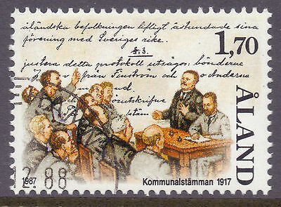 ALAND 1987 stamp Municipal Meeting of 1917 fine used