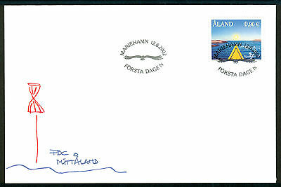 ALAND 2002 stamp My Aland Lill Lindfors View from a Kayak on FDC