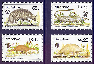 ZIMBABWE 1998 stamps Lesser Known Animals um (NH) mint