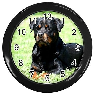 NEW ROTTWEILER ROTTY DOG ROUND 10 inch WALL CLOCK HOME OFFICE DECOR 89225979