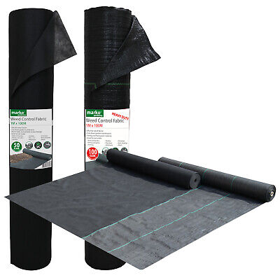 Weed Control Fabric Ground Cover Membrane Landscape Mulch Garden 50/100G 1M Wide