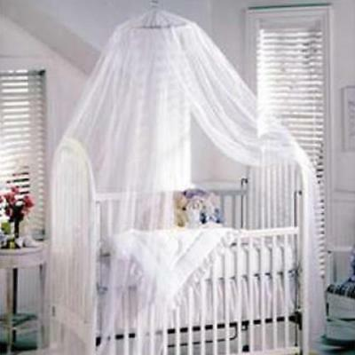 Baby Mosquito Net for Toddler Bed Cot Crib Canopy Nursey Bedding White