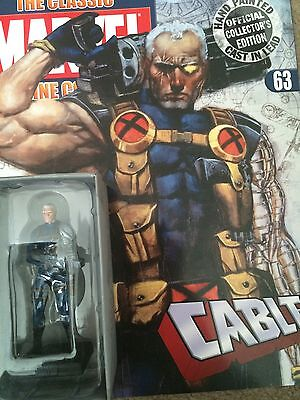 Marvel Classic Super Hero Figurine Collection CABLE 63 (Eaglemoss)