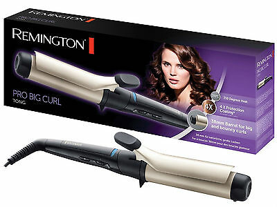 Remington CI5338 Pro 38mm Ionic Hair Curler Curling Iron Tong Wand Styler