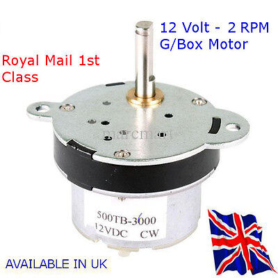 2 RPM  Reversable Motor & GBox - Automation - RASPBERRY Pi - Available in UK