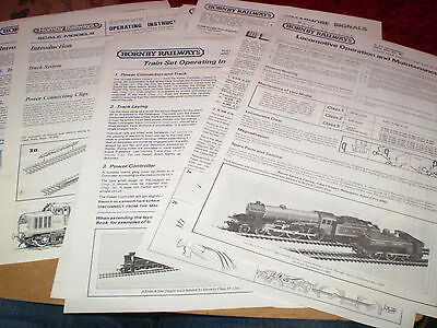 Small Quantity Hornby Model Railways Instructions  Nr Excellent For Age