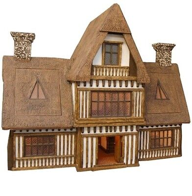 THE GREAT HALL ~ OOAK Handcrafted Tudor Dolls House By Robert Stubbs ~ STUNNING!