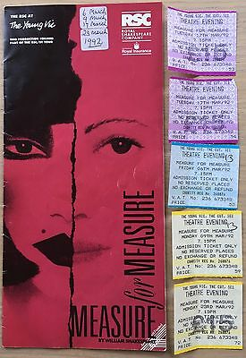 David Haig MEASURE FOR MEASURE 1992 Claire Skinner Philip Madoc PROGRAMME TICKET